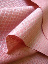 Pink dobby cloth upholstery fabric - SOLD PER METRE - Curtain material 139cm w