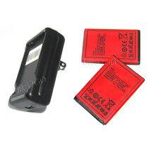 2x 2250mAh HTC EVO DESIGN 4G Replacement Battery + External Battery Charger USA