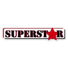 """Superstar car bumper sticker decal 8"""" x 2"""""""