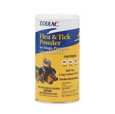 ZODIAC POWDER KILLS FLEAS EGGS TICKS MITES DOG OR CAT TICK BUGS NEW 2ND LIST