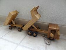 Vintage De Madera Juguete camión con remolque, sistema único para convertir, Juguete Hermoso