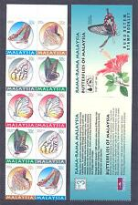 MALAYSIA 1996, Butterflies, Booklet of 10, MHN**(29)