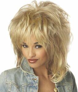 Tina Turner Wig Blonde 80's Singer Diva Pop Star Costume Big Hair Rockin' Soul