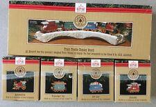 1991 Claus & Co R.R. Train Hallmark Keepsake Christmas Ornament Set~Complete