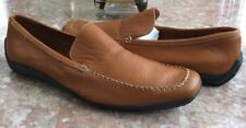 Canali Men's Tan Brown Pebble Leather Loafers Size 11 US / 44.5 EUR EUC! $599