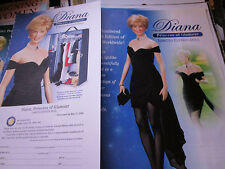 Franklin Mint Princess Diana  Doll AD Short Sexy Gown++ / Advertisement ONLY