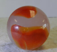#12550m Vintage Akro Agate Ace Corkscrew Shooter Marble .99 Inches