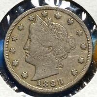 1888 5C Liberty Nickel, BETTER DATE! (59089)