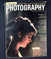 Vintage Popular Photography Magazine 1959 Electric Eye Cameras Braun Flash