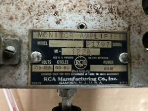 RCA Theater Monitor Amplifier MI-1228 Chassis