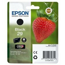 New Epson Original T2981 Strawberry 29 Black Black Ink Cartridge (C13T298140)