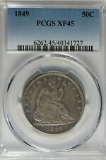 1849 50C PCGS XF 45            Seated Liberty Half Dollar