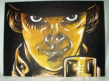Canvas Painting A Clockwork Orange Movie B&W 16x12 inch Acrylic