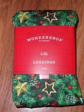 Women's pants leggings ~ holiday print ~ large XL  12-16
