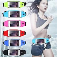 Sports Running Jogging GYM Waist Band Belt Pouch Case Holder For iPhone Samsung