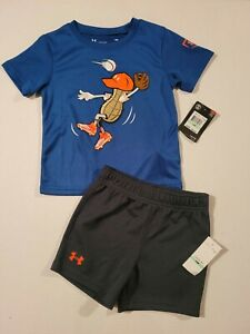Under Armour Boys T-shirt and Shorts 18 months - New