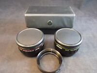 WIDE ANGLE & TELEPHOTO LENS PAIR ZYKKOR LENS CONVERSION SET w/ 46mm SER VII ring