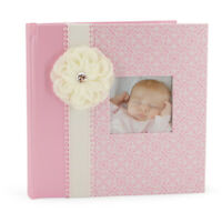 C.R. Gibson Memory Book Baby Girl Toddler Photo Album Scrapbook for 4x6 Photos