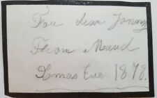 Princess Maud Autograph Signed Christmas Card King Edward Queen Norway Victoria