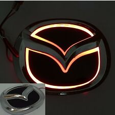 5D LED Car Tail Logo Red light Auto Badge Light for Mazda 2 Mazda 3 Mazda-CX7