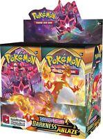 Pokemon TCG x4 Booster Packs Sword & Shield Darkness Ablaze 1/9 Booster Box S349
