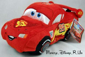 "Disney Store Exclusive Pixar CARS 2 Lightning McQueen 8"" Bean Bag Plush Toy New"