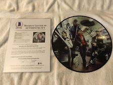 NEW KIDS ON THE BLOCK AUTOGRAPHED PICTURE DISC BECKETT FULL LETTER BAS PSA