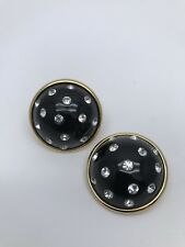 Vintage Authentic Yves Saint Laurent  Clip On Earrings Made In France