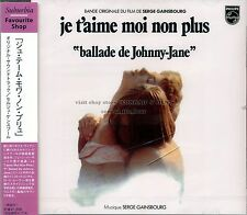 "Serge Gainsbourg ""JE T'AIME MOI NON PLUS"" soundtrack Japan CD SEALED"