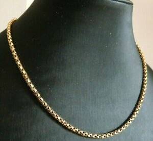 Collier Vintage Years' 60 IN Gold Solid 18K Necklace Jersey Tubular Choker