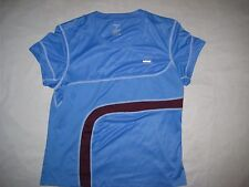 HIND womens short sleeve shirt LARGE Blue Mesh Running CYCLING BIKE Fitness Gym