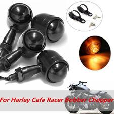 4x Turn Signal Indicator Blinker Light with Bracket For Harley Cafe Racer Bobber