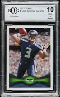 2012 Topps 165A Russell Wilson BCCG 10 Mint Or Better Rookie Card Seahawks