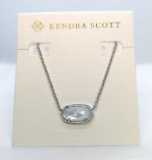 New Kendra Scott Elisa Pendant Necklace In Ivory Pearl / Silver