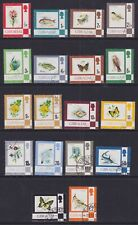 Gibraltar 1977-82 Used Part Set Definitives Flora Fauna Flowers Fish Crest Birds
