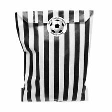 Black & white paper party bags with 30 mm football party stickers - 24 of each