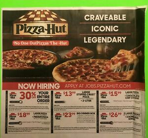 🍕🥤PIZZA HUT Sheet of 6 Coupons, expire 9/26/2021 FAST SHIP 🍕🥤