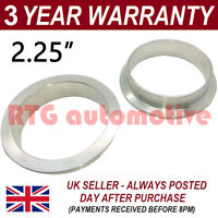 """V-BAND CLAMP STAINLESS STEEL EXHAUST TURBO HOSE REPLACEMENT FLANGES 2.25"""" 57mm"""