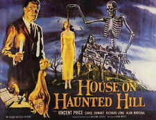HOUSE ON HAUNTED HILL Movie POSTER 11x17 B Vincent Price Carol Ohmart Richard
