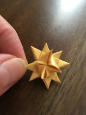 NEW! 12 1-inch Gold Moravian Paper Star Christmas Ornaments