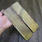 Old Pair of Brass Ribbed Door Finger Push Plates