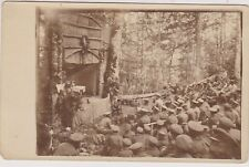 WW1 REAL PHOTO Soldier's Theater on Balkan War Theater