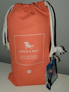New Dock and Bay Quick Dry Towel XL Sand Free Drawstring Storage Bag