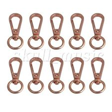 10pcs Swivel Trigger Snap Hooks Lobster Clasp Keychain Bag DIY Rose Gold