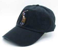 Polo Hat Black Golf Cap Big Pony Sport Baseball Tennis UnisexSunhat 030