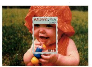VINTAGE CLASSICS - Maldives 2169 - UNICEF Baby Stamp - Souvenir Sheet - MNH