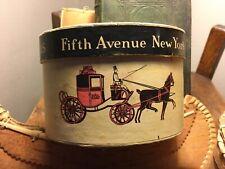 Antique Dobbs Fifth Avenue New York Miniature Hat Box