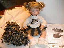 Molly The Littlest Boilermaker cheerleader doll Danbury Mint Purdue University