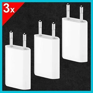 3x USB Ladegerät Netzteil Netzstecker Für Apple iPhone iPod iPad Modelle