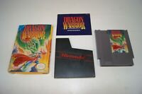 Vintage 1989 Dragon Warrior Nintendo NES Video Game Cartridge Box & Manual